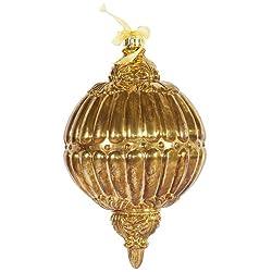 """Vickerman 12"""" Antique Gold Finial Ornament 2 per Box"""