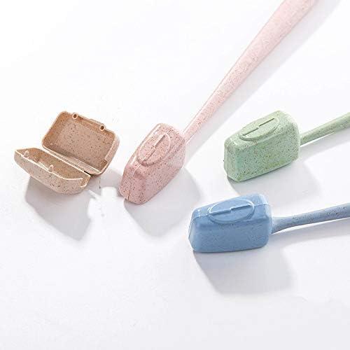 16歯ブラシセットブラケット歯ブラシヘルメット旅行ハイキングキャンプ歯ブラシキャップボックス屋外用品歯ブラシと歯磨き粉ラック