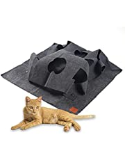 Cat Activity Play Rug, Durable Cat Play Mat, Clean and Space-Saving Fun Interactive Play Training Scratching Mat for Interacting with Cats