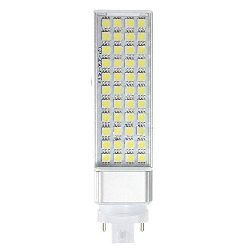 Lampara de enchufe horizontal - SODIAL(R) G23 9W 5050 SMD Lampara de enchufe horizontal de LED blanco de techo de casa luz de color blanco: Amazon.es: ...