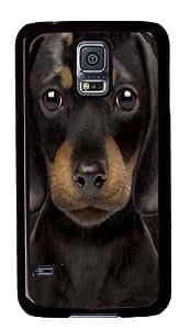 Dachshund Puppy Custom Samsung Galaxy S5/Samsung S5 Case Cover Polycarbonate Black