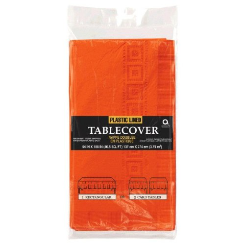 Orange Peel 3-Ply Paper Table Cover   54