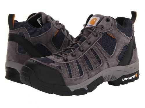 Carhartt(カーハート) メンズ 男性用 シューズ 靴 ブーツ 安全靴 ワーカーブーツ Lightweight Waterproof Work Hiker Composite Toe Grey/Navy [並行輸入品] B07BMMYPTH 10.5 D Medium