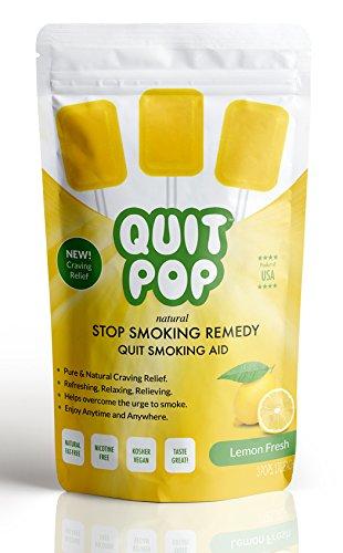 QuitPop / Natural Stop Smoking Remedy & Quit Smoking Solution To Help Reduce Cravings & Replace Smoking / Safe & Easy Way To Quit (3 Pack, Lemon Fresh)