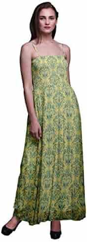 346179ca2f Bimba Leaves & Clover Flower Damask Print Women Long Maxi Tube Smocked  Bodice Dress-Large. Contact. Seller: Whitelotus · / (0) Views