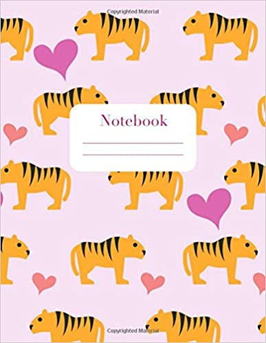 Libro Epub Gratis Notebook: For Kids Who Love Deadly Animals | Standard Lined Paper | Pink Cover With Tigers And Hearts | 100 Pages
