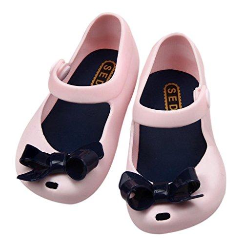 Tefamore Sandalias Zapatos Detallada Jelly Bowknot Boca De Los Peces Niños Lindos Bebés Rosado