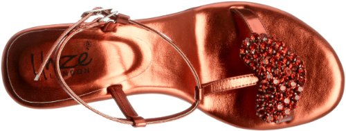 Unze Evening Sandals L18387W - Sandalias para mujer Rojo