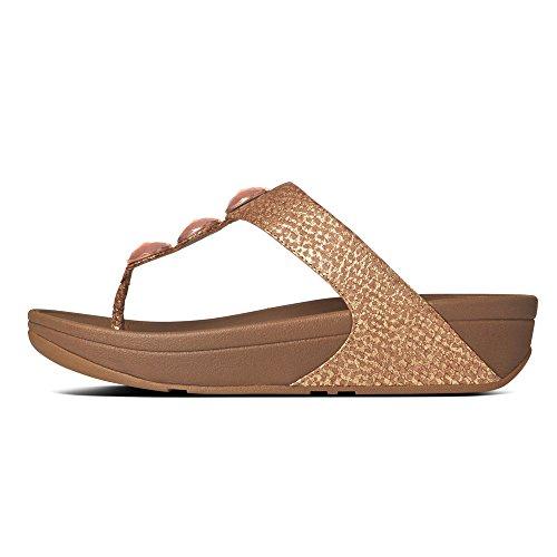 FitFlop Petra- Sandalias Para Mujer (Copper) Marrón, Talla 40