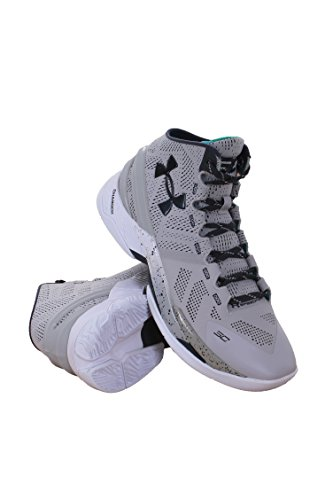 Under Armour 1259007-052 Men UA Curry 2 Aluminum/White/Stealth Gray Grey
