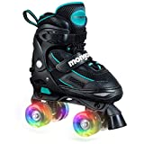 Mongoose Roller Skates for Girls Adjustable with Light Up Wheels Beginner Quad Skates Fun Illuminating for Kids Boys and Girls (Renewed)