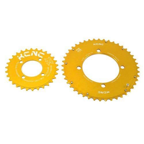KCNC CNC 7075 Alloy Chainring Set 45-30T, BCD 104-64mm, Gold #BK1088-3-self   B07MDCBQN3