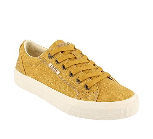 Taos Footwear Women's Plim Soul Golden Yellow Wash Canvas Sneaker 8 M ()