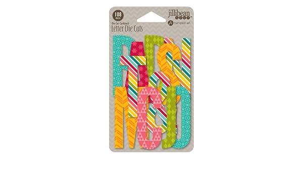 Jillibean Soup Shades Of Color Letter Die-cuts 108//pkg