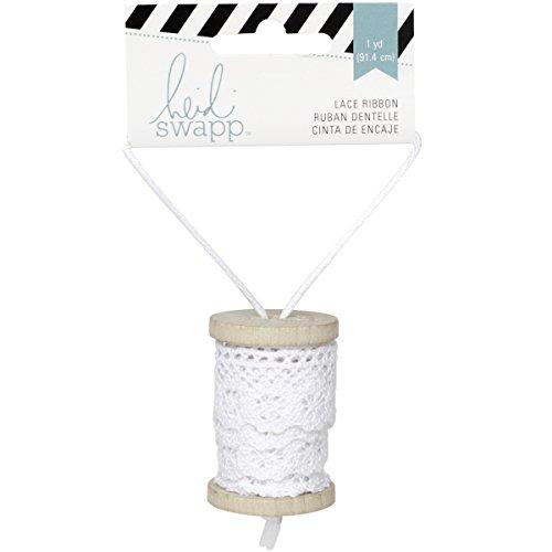 Heidi Swapp Lace Ribbon Spool, White