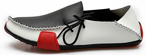 HYLM Chaussures pour hommes / chaussures en cuir / Chaussures à chaussures souples black and white 5aMRCP2KI7