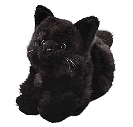 Cat Black, 8 inches, 20cm, Plush Toy, Soft Toy, Stuffed Animal 1308004