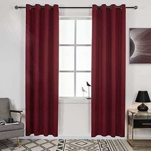 DECOVSUN Blackout Burgundy Red Curtains