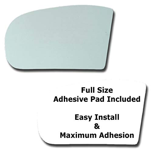 - Mirror Glass + Full Size Adhesive Pad for 2001-2005 Mercedes-Benz C320 Driver Side Replacement - Dim Fit Over