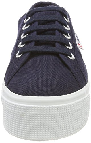 navy And F43 Blu 2790acotw fwhite Up Sneaker Down Donna Superga Linea Patqvwn8