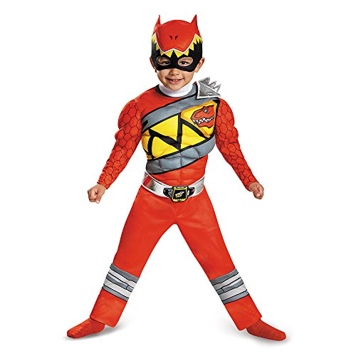 [Disguise Red Ranger Dino Charge Light-Up Motion-Activated Costume, Medium (3T-4T)] (Red Halloween Kids Costumes)
