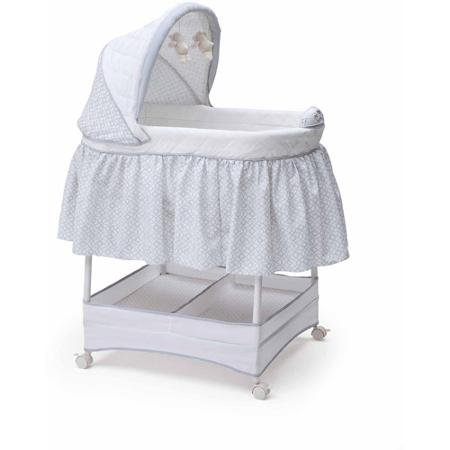 Bassinets By Delta Children Gliding Bassinet, Garden Gate Better Experience for Babies and Parents (Delta Children Sweet Beginnings)