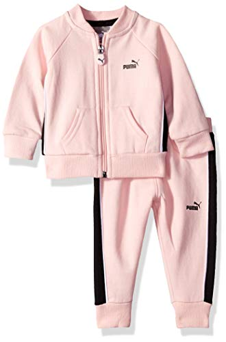 (PUMA Baby Girls' Fleece Jacket Set, Crystal Rose 6-9M)