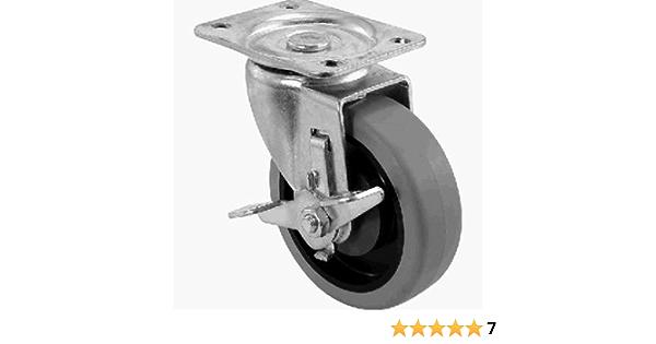 "3/"" x 1-1//4/"" Colson Swivel Plate Caster w//Wheel Brake GDP3356142001 1-5045"