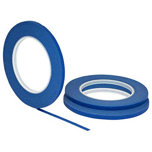 d STIKK Blue Painters Tape 14 Day Clean Release Trim Edge Thin Narrow Finishing Masking Tape (.25 in 6MM) ()
