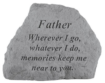 Kay Berry- Inc. 16520 Father Wherever I Go-Whatever I Do - Memorial - 6.5 Inches x 4.75 -