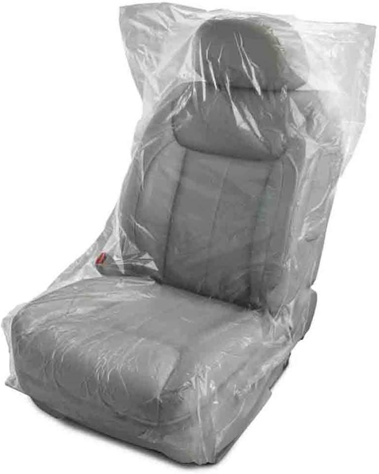 Donkey Auto Products Disposable Plastic Seat & Chair Covers - This Germ Barrier is Like a Glove for Your Seat (30-Pack) Great for Airplane Seats, Salon Chairs, Restaurant Seats, Bus Seats & More