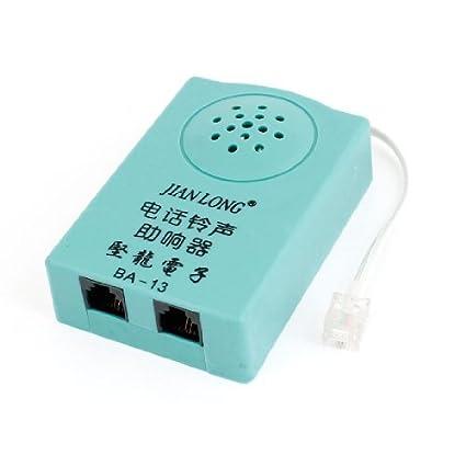 DealMux dupla RJ11 Volume Melhorar Telefone Telefone Amplificador para Fixo Telefone, Verde