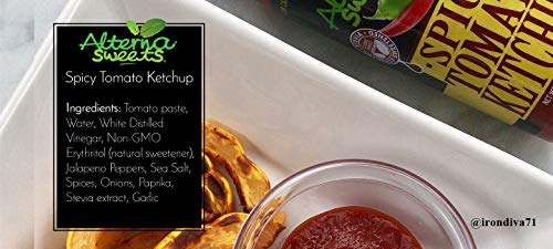 Bbq Sauce Ketchup (AlternaSweets Spicy Ketchup - 13.5 oz - Stevia Sweetened - Classic Tomato Flavor - Low Carb - KETO/Paleo/Atkins/Diabetic Friendly - Non GMO - Gluten Free)