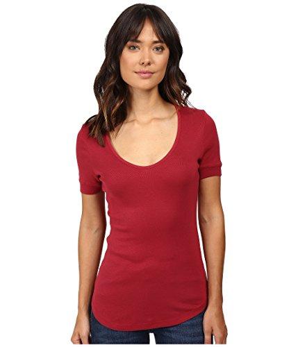 splendid-womens-1x1-scoop-neck-tee-cranberry-t-shirt-xl-womens-14-16