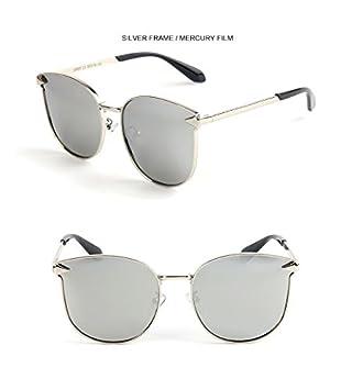 Y-WEIFENG Gafas de Sol niño Moda Flecha Marco de Metal Gafas ...