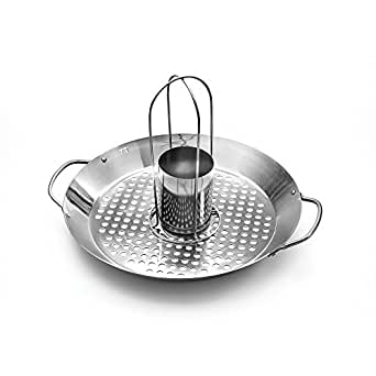 Outset QS56 2-in-1 Roasting Wok, Stainless Steel