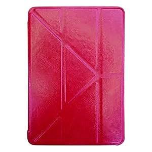 CL - Estuche blando multidireccional plegable de la PU de protección con soporte para el mini iPad de Apple , Rojo