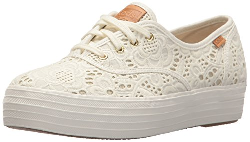 Embroidered Baskets Tpl Cream Keds Crochet 13 Blanc White Femme off qAawxIC