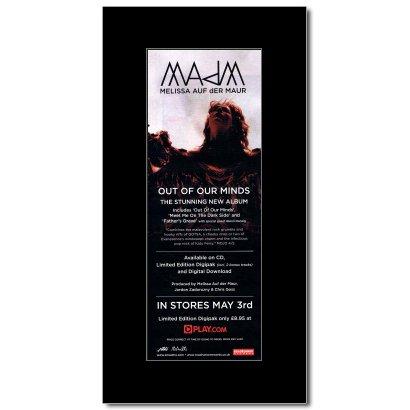 Melissa Auf Der Maur   Out Of Our Minds Mini Poster   28 5X10cm