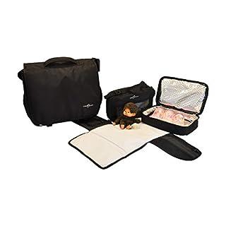 Obersee Madrid Convertible Diaper Backpack Messenger Bag, Black