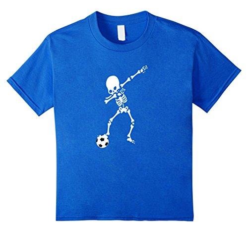 Kids Soccer Ball Skeleton Dabbing Funny Halloween Tshirt Dab 12 Royal Blue (Funny 2017 Halloween Costumes)