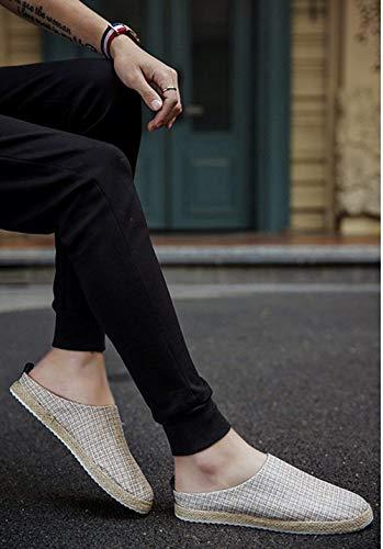 Scarpe 7 Pigre 5 Lino Fuweiencore Da Sandali Baotou Pantofole Dimensione In  colore 40eu Casual Uomo x1g6wYpq 6cb24da8183