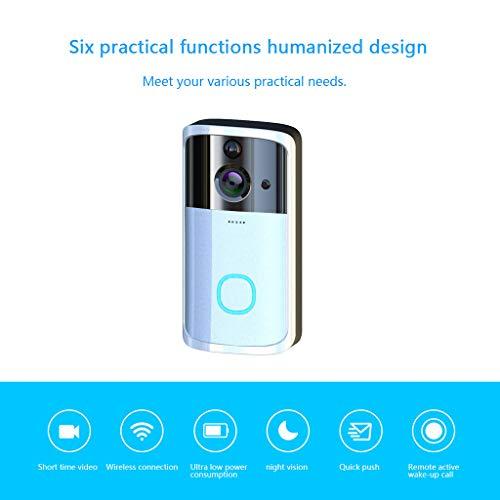 iYBWZH Wireless Smart WiFi Video DoorBell IR Visual Camera Intercom Home Security (Silver, 1 pcs)
