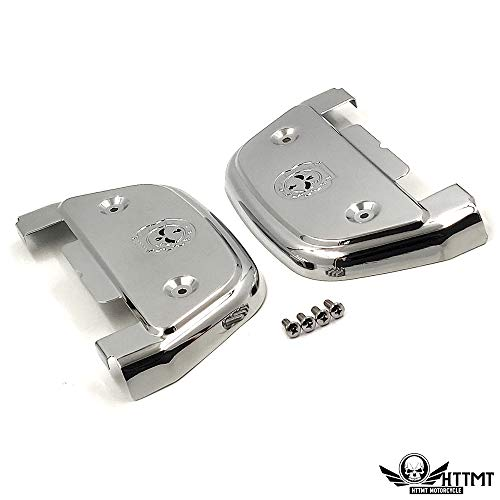 XKMT-MT216-115S-Gear Skull passenger footboard floorboard cover Compatible With Harley Touring Softail Dyna [B07RC26VP5]