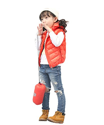 Orange Jacket Kids Chic Outwear Vest Hooded Children Lightweight Winter Lemonkids;® zH57x85