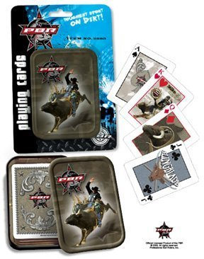 PBR (Professional Bull Riders) Playing Cards in Collector's Tin by (Pbr Bull)