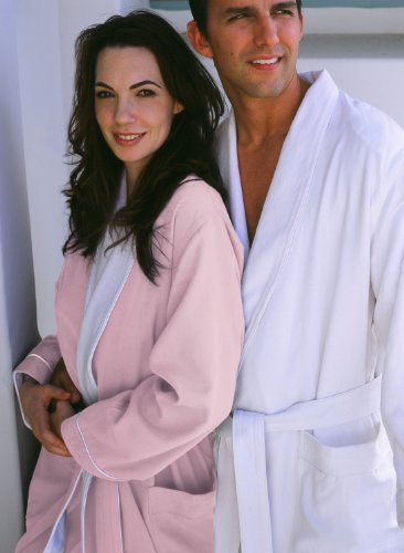 Luxury Spa Robe - Microfiber with Cotton Terry Lining, Pink, XXX-Large by Plush Necessities (Image #5)