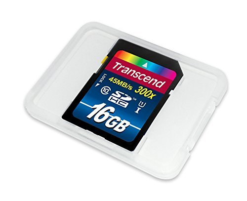 Transcend 16GB SDHC Class 10 UHS-1 Flash Memory Card Up to 60MB/s (TS16GSDU1) 2 Supports Ultra High speed Class 1 Specification (U1) Class 10 compliant Fully compatible with SD 3. 01 standards
