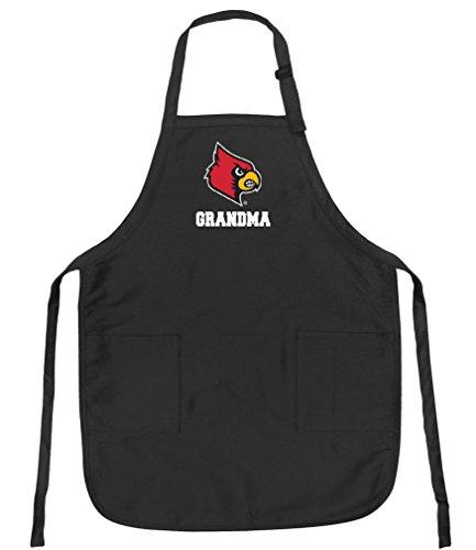 University of Louisville Grandma Aprons Louisville Cardinals Grandma w/Pockets Grilling Gift Her