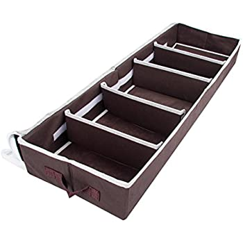 Underbed Shoe Storage Under Bed Shoes Organizer Boxes 5 Pairs   Made Of  Moisture Proof Materials   With Detachable Closets Multiuse And Front  Zippered ...